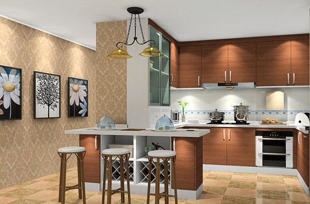 歐式整體櫥柜_中西結合廚房_歐式風格廚房設計_新居網
